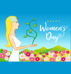 8 march happy womens day elegant greeting card vector
