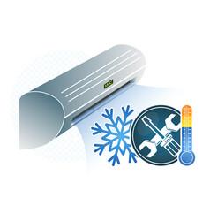 Air conditioning repair vector