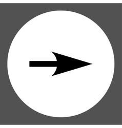 Arrow Axis X flat black and white colors round vector