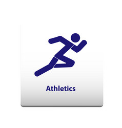 athletics sport symbol stickman solid icon vector image
