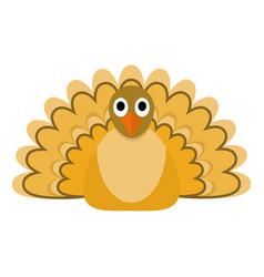 autumn turkey icon flat style vector image