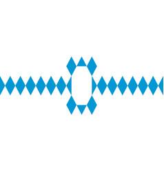 Banner sticker in colors bavarian flag vector