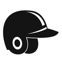 baseball helmet icon simple style vector image