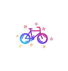 bicycle transport icon bike public transportation vector image