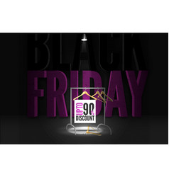 black friday fashion clothing sale banner template vector image