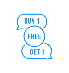 Blue buble like buy one get 1 free promo vector
