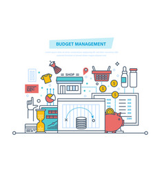 budget management financial calculations vector image