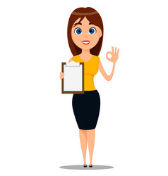 business woman cartoon character young attractive vector image vector image