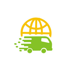 Car delivery logo vector