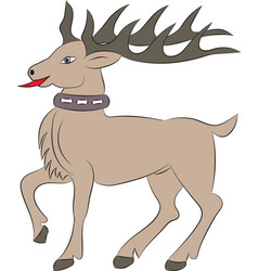 cartoon deer on white background vector image