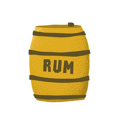 cartoon style grunge rum barrel isolated vector image