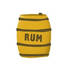 Cartoon style grunge rum barrel isolated vector