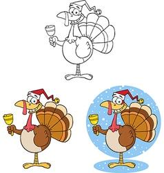 Cartoon turkey design vector image