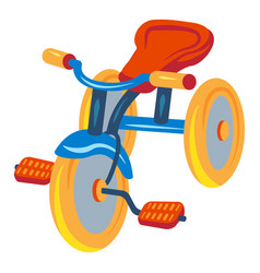 Child tricycle icon cartoon style vector
