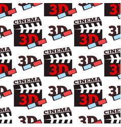 cinema 3d movie entertainment vector image