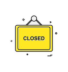 closed board icon design vector image