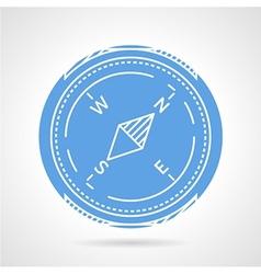 Compass round icon vector