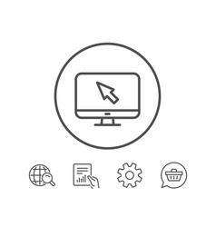 Computer or monitor icon mouse cursor sign vector