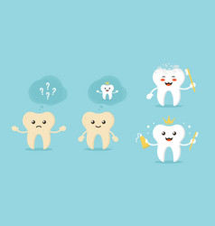 Concept of tooth whitening vector