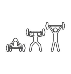 Contour set collection pictogram with men vector