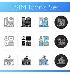 Critical services icons set vector