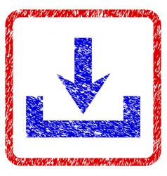 Downloads grunge framed icon vector