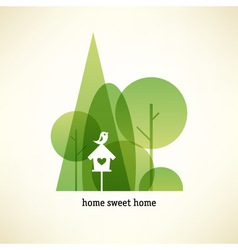 Eco concept card vector image