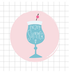 enjoy summer greeting card invitation acoholic vector image