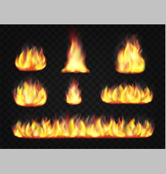 fire flame effect vector image