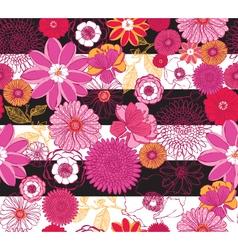 Floral Pink Stripe vector