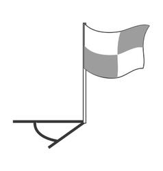 Football corner flag vector