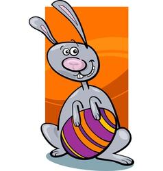 funny easter bunny cartoon vector image