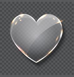 glass heart symbol realistic vector image