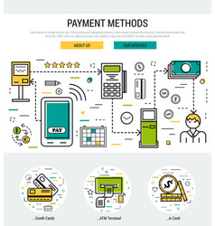grey web page header template - payment methods vector image