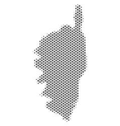 Halftone gray corsica france island map vector