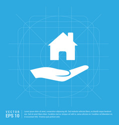 hands holding house icon vector image