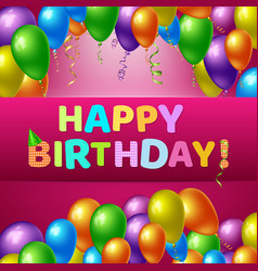 happy birthday realistic background vector image