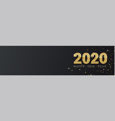 Happy new year 2020 glittering golden dust vector