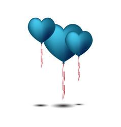 Heart ballon vector