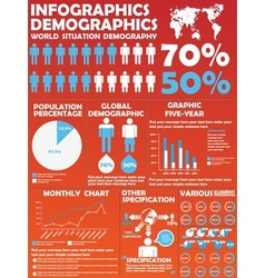 Infographic demographic modern style 8 vector