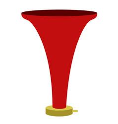 isolated soccer vuvuzela icon vector image