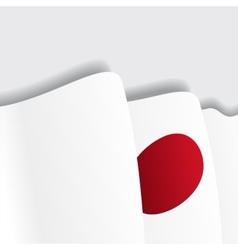 Japanese waving Flag vector image