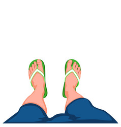 Legs top view 02 vector