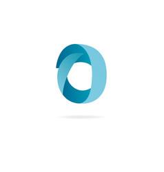 letter o logo design template elements ribbon vector image