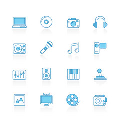 line with blue background media entertainment vector image