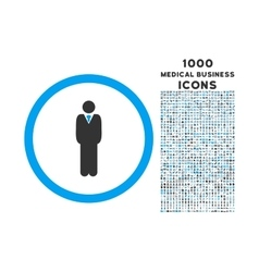 Manager Rounded Icon with 1000 Bonus Icons vector