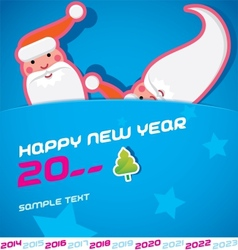 Merry Christmas Santa Claus New Year Card vector image