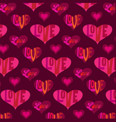 mod valentines day heart pattern vector image