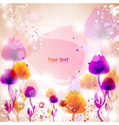 multicolor flower background with space for text vector image