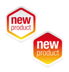 New product label tag sign vector
